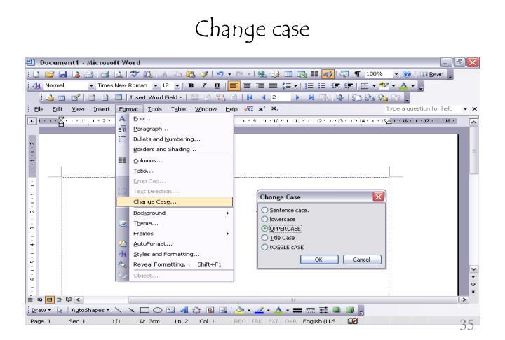 Change case