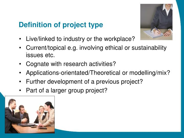Definition of project type