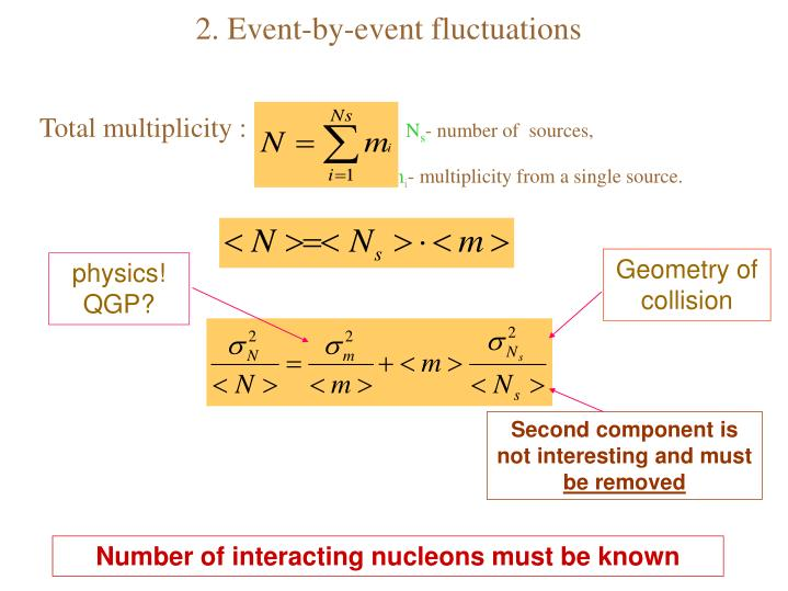 2. Event-by-event fluctuations
