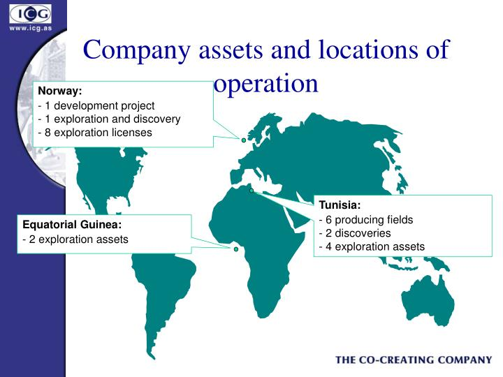 Company assets and locations of operation