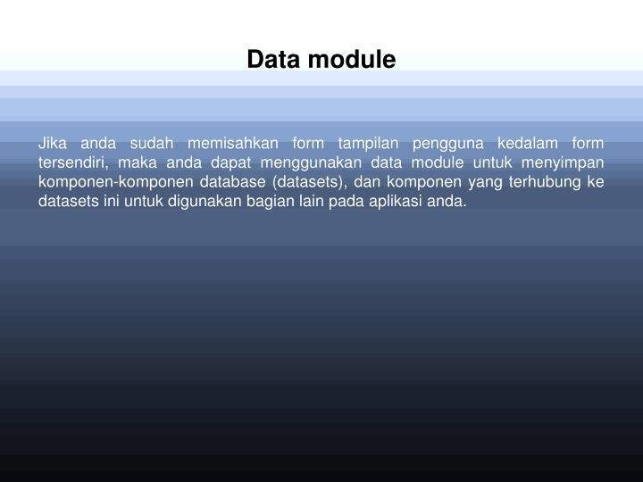 Data module