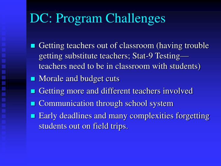 DC: Program Challenges