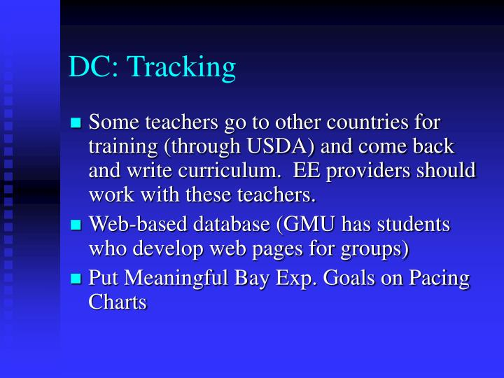 DC: Tracking