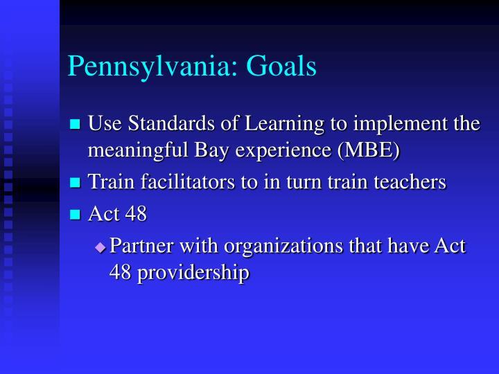 Pennsylvania: Goals