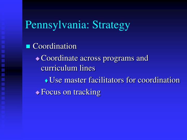 Pennsylvania: Strategy