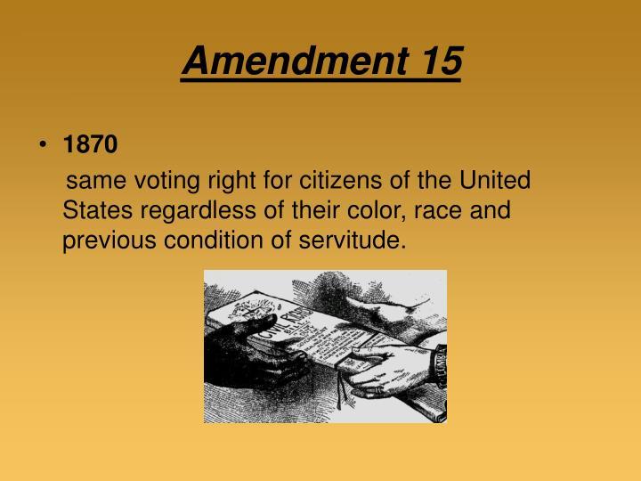 Amendment 15