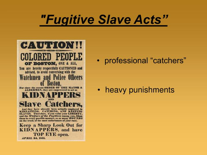 """""""Fugitive Slave Acts"""""""