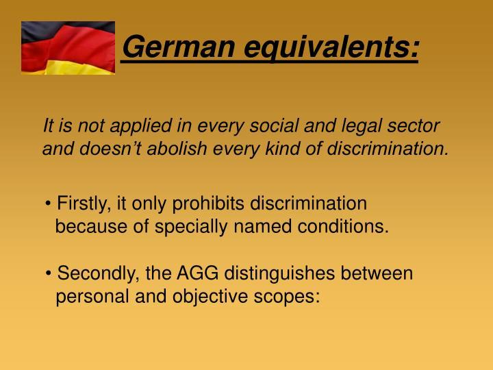 German equivalents: