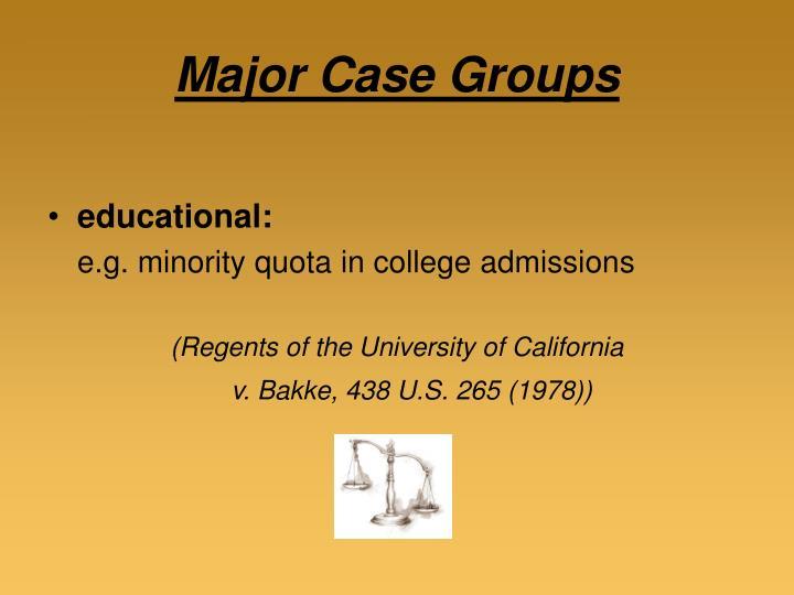 Major Case Groups