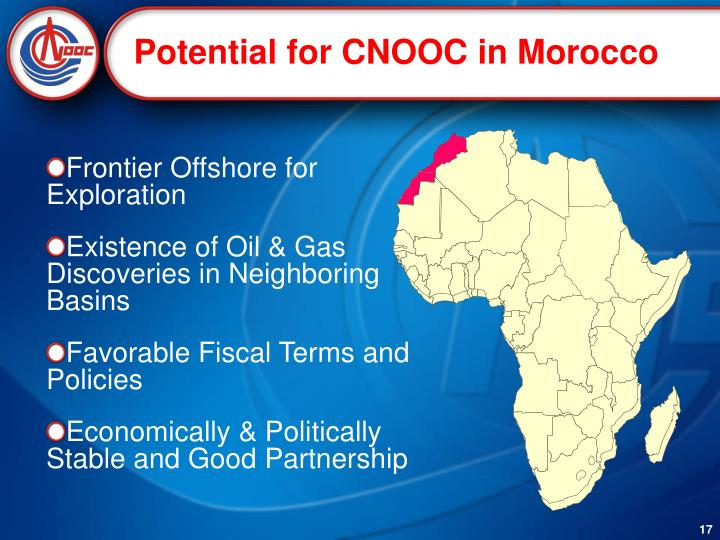 Potential for CNOOC in Morocco