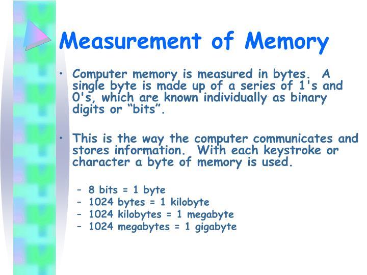 Measurement of Memory