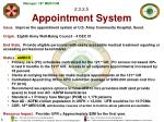 2 3 2 5 appointment system