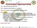 3 1 12 2 command sponsorship