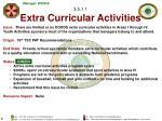 3 5 1 1 extra curricular activities