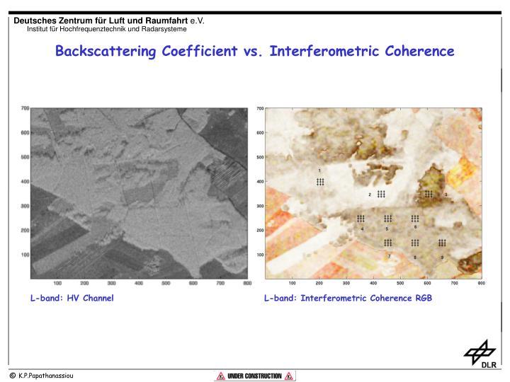 Backscattering Coefficient vs. Interferometric Coherence