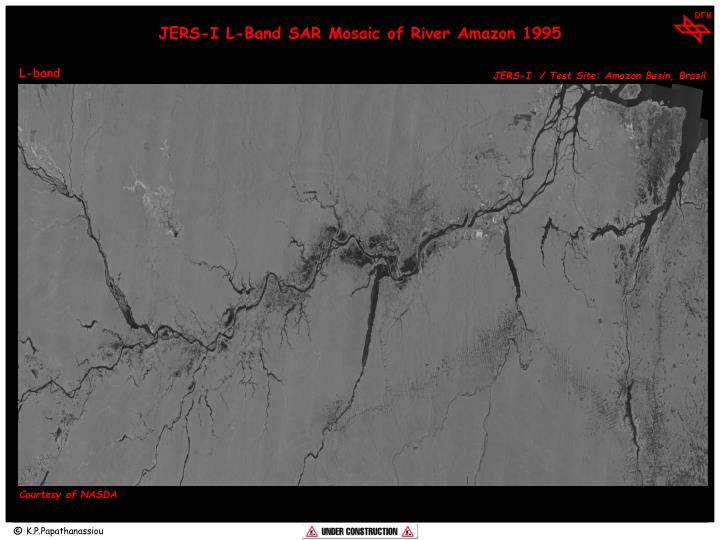 JERS-I L-Band SAR Mosaic of River Amazon 1995