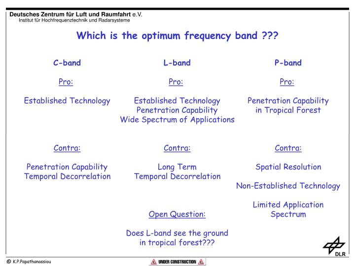 Which is the optimum frequency band ???