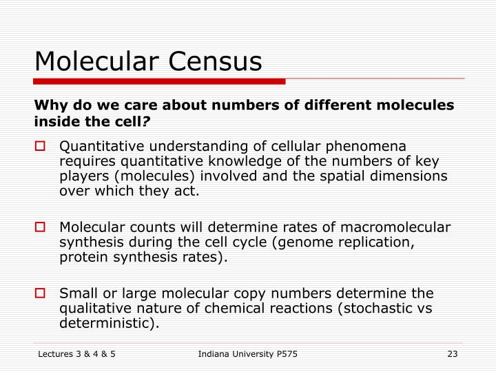 Molecular Census