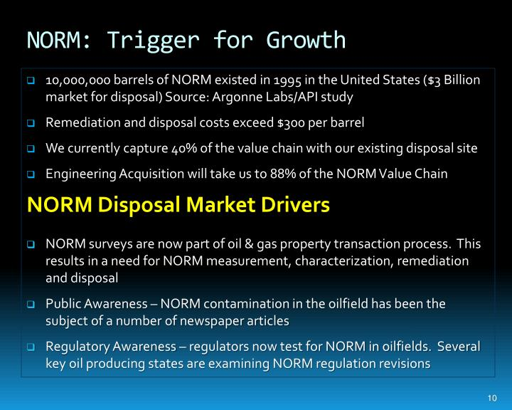 NORM: Trigger for Growth