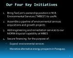 our four key initiatives