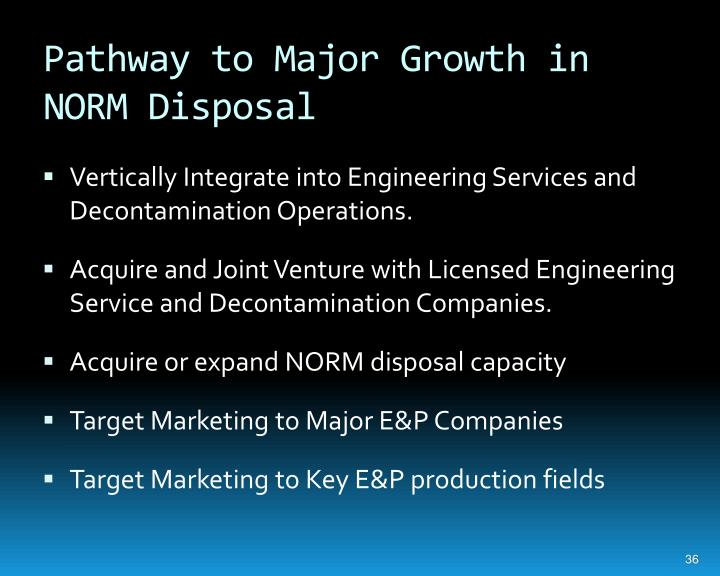 Pathway to Major Growth in