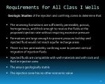 requirements for all class i wells