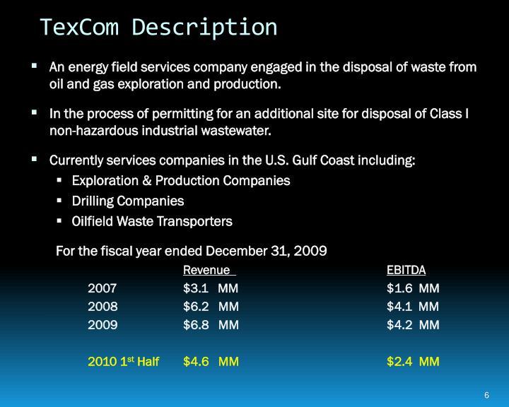 TexCom Description