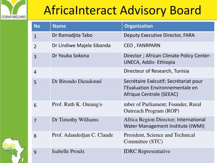 AfricaInteract Advisory Board