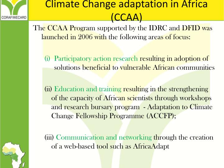 Climate Change adaptation in Africa (CCAA)