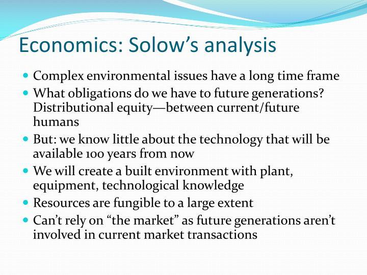 Economics: Solow's analysis
