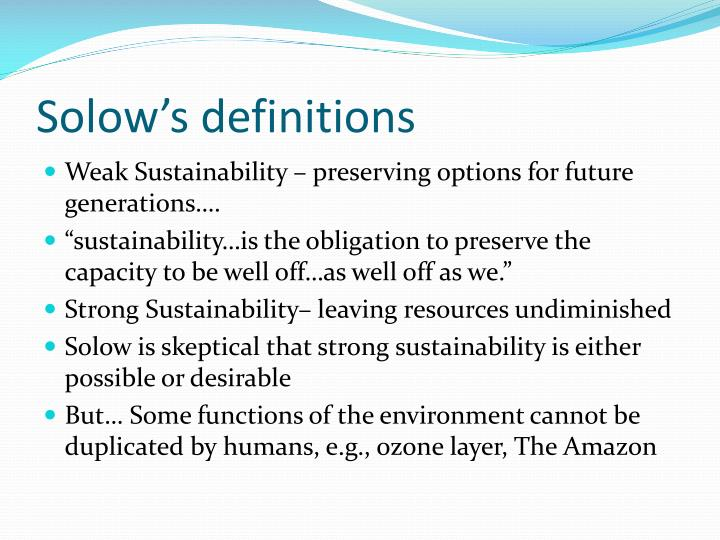 Solow's definitions