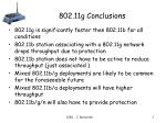 802 11g conclusions