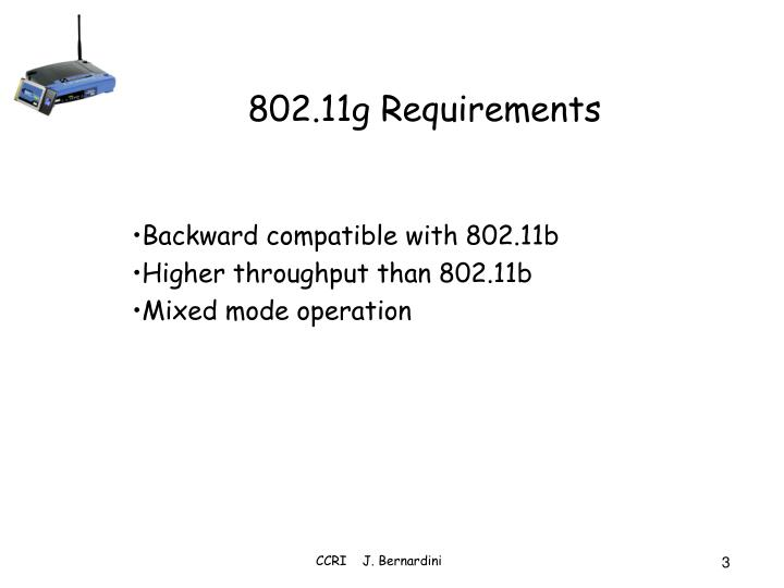 802.11g Requirements