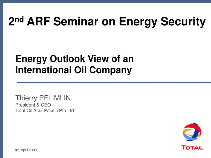 Energy outlook view of an international oil company