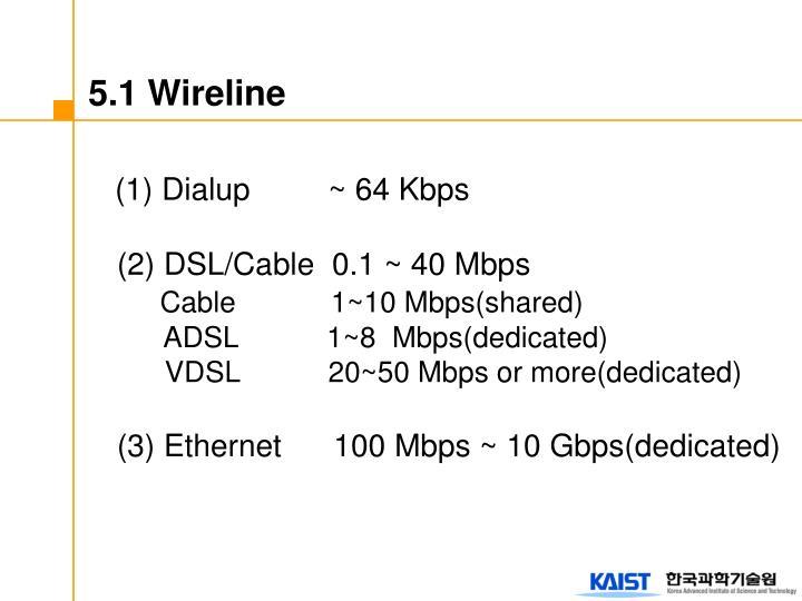 5.1 Wireline