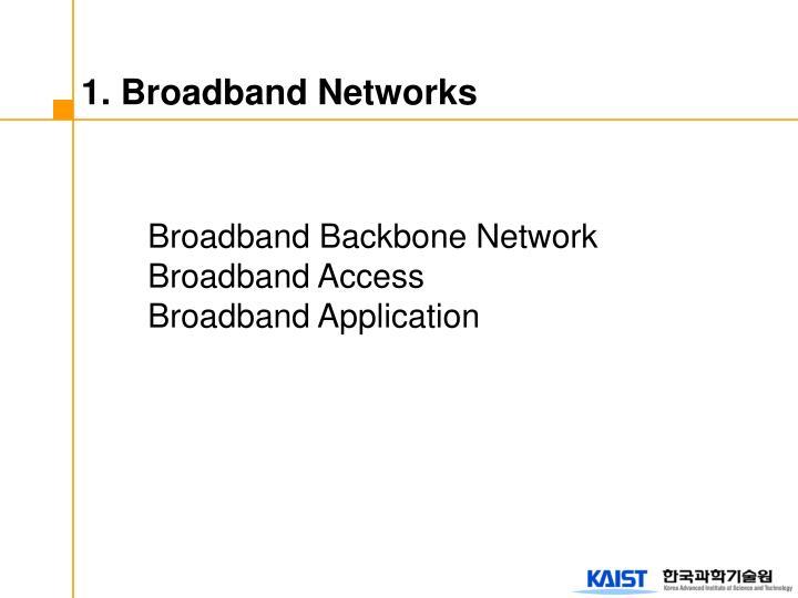 1. Broadband Networks