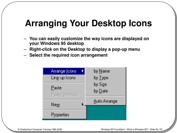 Arranging Your Desktop Icons