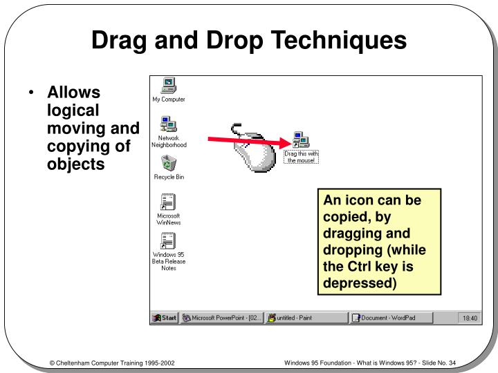Drag and Drop Techniques