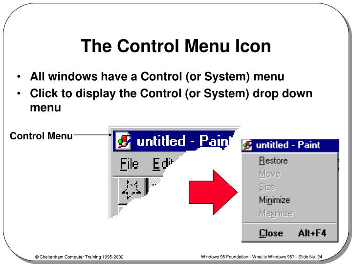 The Control Menu Icon