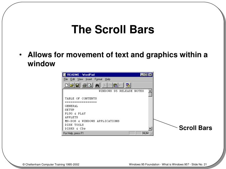The Scroll Bars