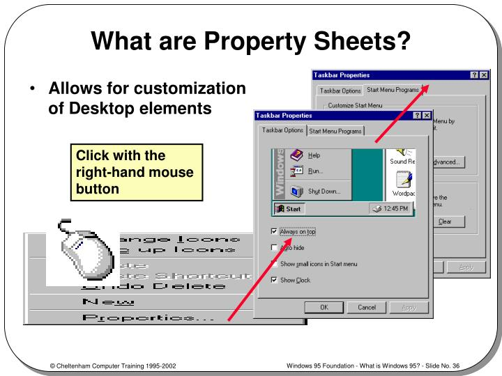 What are Property Sheets?
