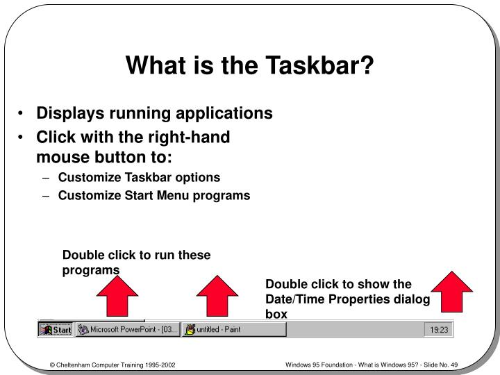 What is the Taskbar?