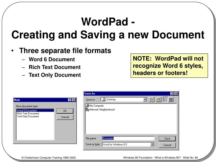 WordPad -