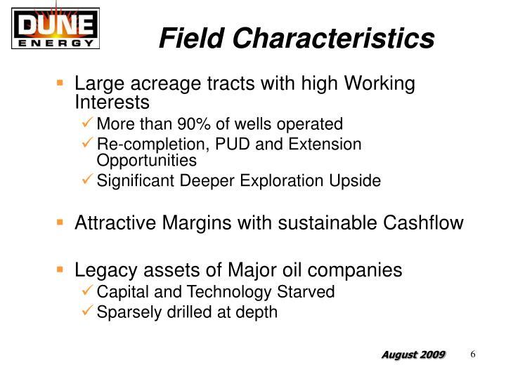 Field Characteristics