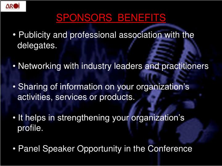 Publicity and professional association with the