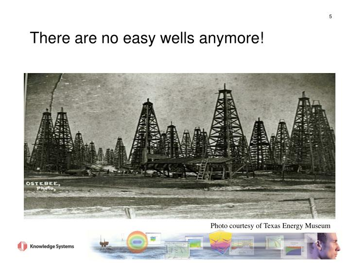 There are no easy wells anymore!
