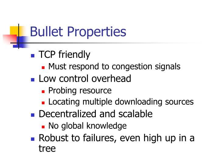 Bullet Properties