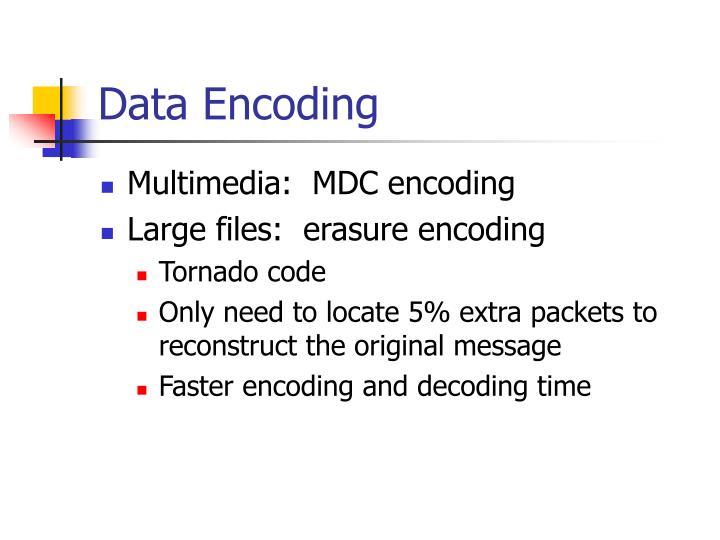 Data Encoding
