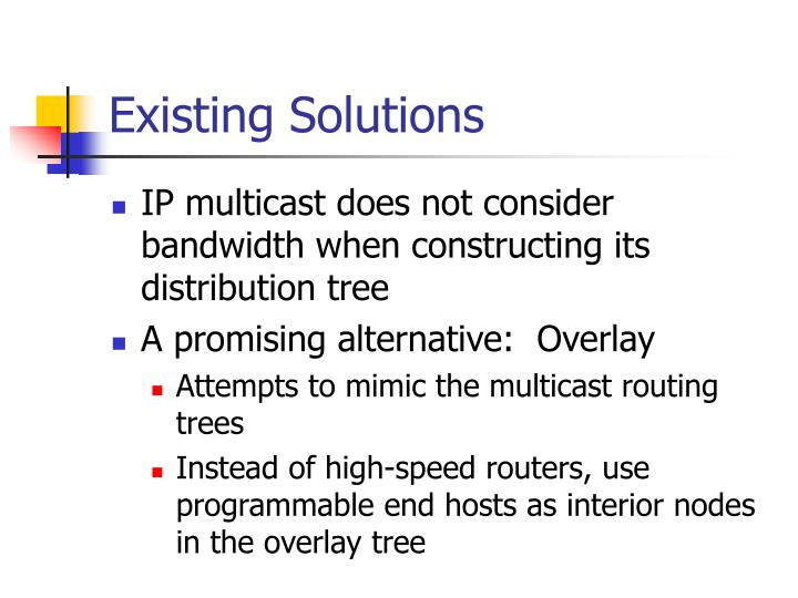 Existing Solutions