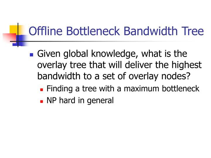 Offline Bottleneck Bandwidth Tree